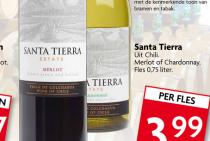 santa tierra wijn merlot of chardonnay