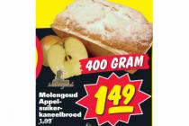 molengoud appelsuikerkaneelbrood 400 gram