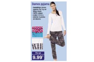 dames pyjama
