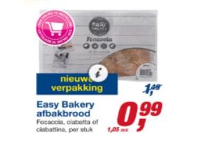easy bakery afbakbrood