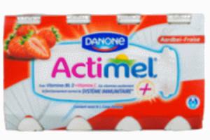 danone actimel drink aardbei 8 pack