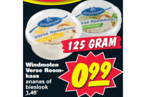 windmolen verse roomkaas ananas of bieslook