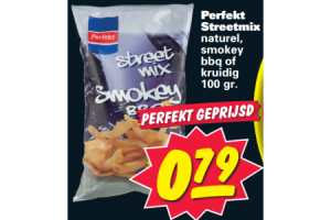perfekt streetmix naturel smokey bbq of kruidig 100 gram
