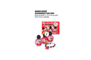 minnie mouse geschenkset bad mini