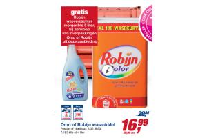 omo of robijn wasmiddel