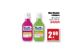 blue wonder reinigers