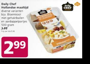daily chef hollandse maaltijd