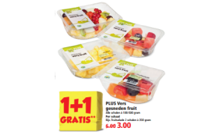 plus vers gesneden fruit