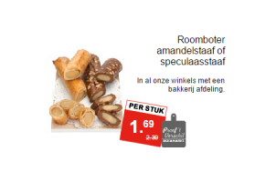 roomboter amandelstaaf of speculaasstaaf