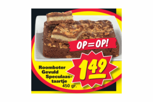 roomboter gevuld speculaastaartje