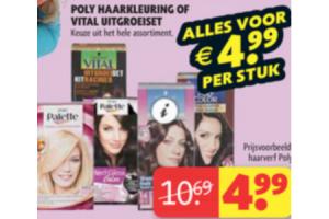 poly haarkleuring of vital uitgroeiset