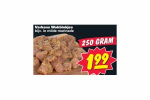 varkens wokblokjes
