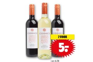 codici wijnen