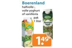 campina boerenland halfvolle  volle yoghurt of vanillevla