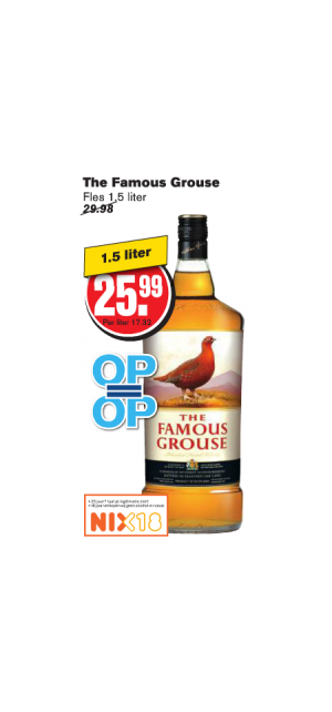the famous grouse whisky fles 15 liter