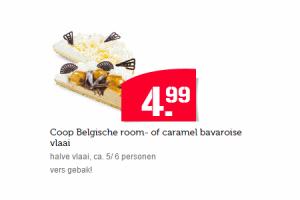 coop belgische room of caramel bavaroise vlaai