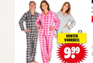 flanellen pyjama