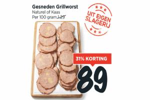 gesneden grillworst