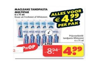 macleans tandpasta multipak