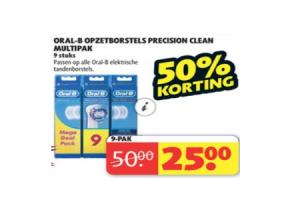 oral b opzetborstels precision clean multipak