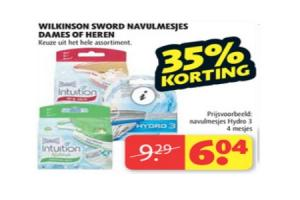 wilkinson sword navulmesjes dames of heren
