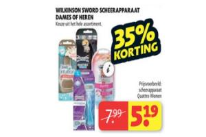 wilkinson sword scheerapparaat dames of heren