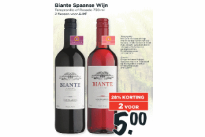 biante spaanse wijn