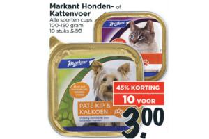 markant honden  of kattenvoer