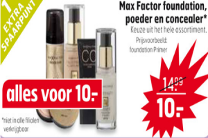 max factor foundation poeder en concealer