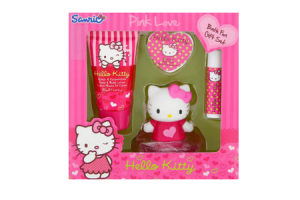 hello kitty pink love badfun cadeauset