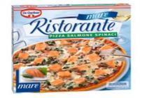 dr. oetker ristorante pizza mare salmone spinaci