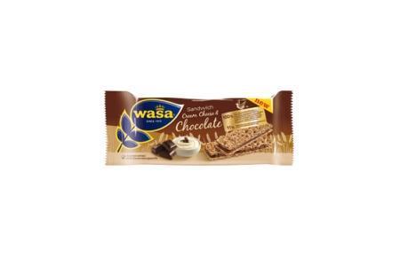 wasa sandwich cream cheese  chocolate