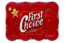 first choice cola 12pack 12x15cl