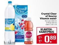 crystal clear of sourcy vitamin water