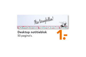desktop notitieblok
