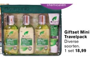dr. organic giftset mini travelpack