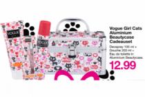vogue girl cats aluminium beautycase cadeauset