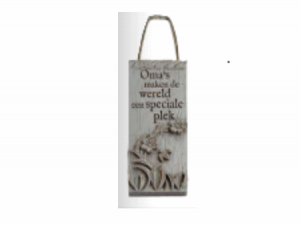 driftwood plaque smalle plaque oma