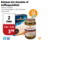 buisman hot chocolate of koffiespecialiteit