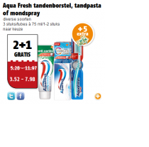 aqua fresh tandenborstel tandpasta of mondspray