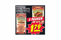 flemmings broodje frikandel cheeseburgers of hotdogs 2 x 2 stuks