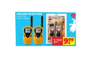 speelgoed walkie talkie