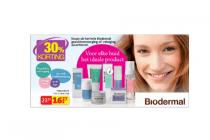 hele assortiment biodermal gezichtsverzorging of reiniging