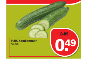 plus komkommer