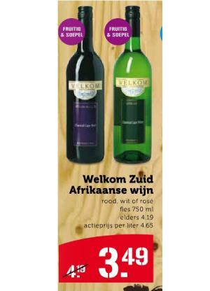 welkom zuid afrikaanse wijn