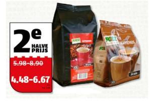 koffie koffiebonen of koffiepads