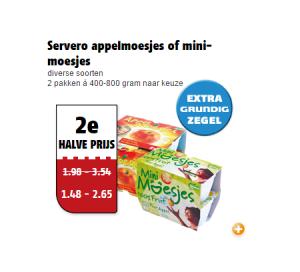 servero appelmoesjes of mini moesjes