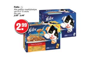 felix alle pakken maaltijdzakjes 8 of 12 stuks
