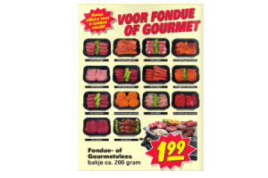 fondue  of gourmetvlees