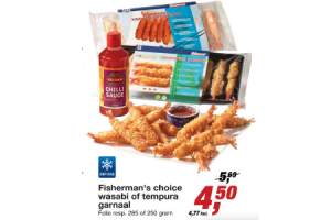 fishermans choice wasabi of tempura garnaal